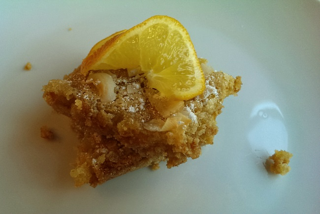 Coconut and Meyer Lemon Shortbread Bars