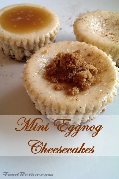 Decadent Mini Eggnog Cheesecakes with Gingersnap Crust